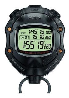 Cronómetro Casio Hs80 - Memoria 100 Laps Arbitro 12 Alarmas