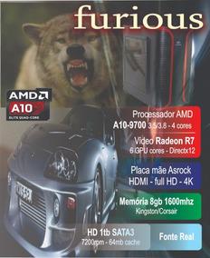 Computador Gamer Furious - Amd 200ge Radeon Vega 8gb 1tb