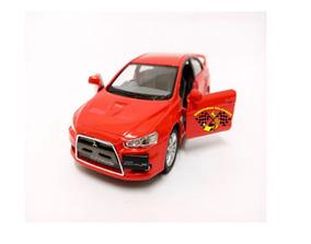 Miniatura Mitsubishi Lancer Evolution X Vermelho 1:36 Kins.