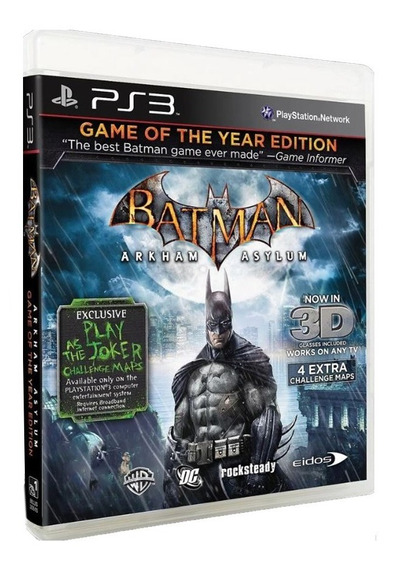 Batman Arkham Asylum Goty - Ps3 - Original - Usado