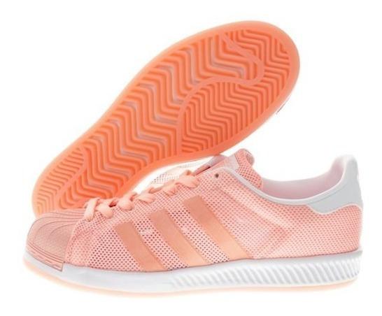 Tenis adidas Superstar Bounce Durazno Bb2939 Casual Sneakers Original