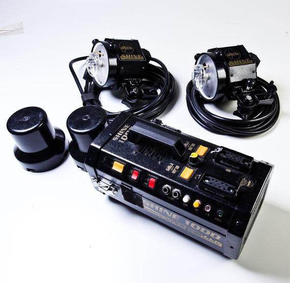 Gerador Shine 1000 W Atek 12 Volts C/ 2 Flashes Sem Bateria