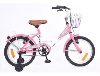 Bicicleta Walher R16 Dama Lujo B8166 Coral