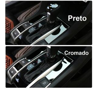 Acessórios Aplique Moldura Honda Civic 10 Console Prata G10