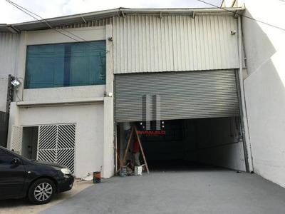Galpão Para Alugar, 450 M² Por R$ 10.000/mês - Mooca - São Paulo/sp - Ga0177