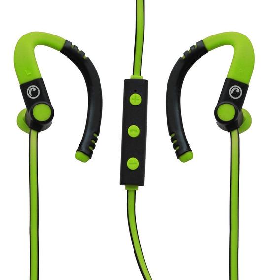Audífono Deportivo Bluetooth Fiddler Con Manos Libres Verde