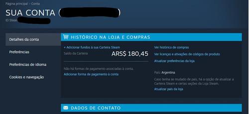 Conta Steam Argentina - Jogos Muito Mais Baratos