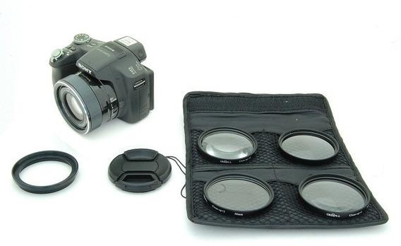Kit Lentes Macro Sony Dsc Hx100 Hx200 1+ 2+ 4+ 10+ 58mm