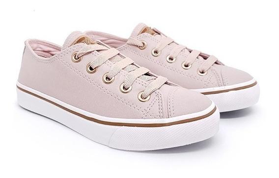 Tênis Feminino Casual Capricho Like Class Rosê/cobre