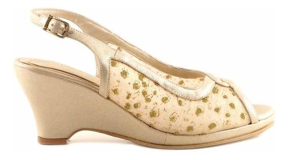Sandalia Cuero Mujer Briganti Taco Zapato Mcsd04421 Ab