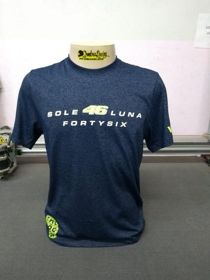 Camiseta Valentino Rossi Vr46 Mescla Azul Marinho Motogp