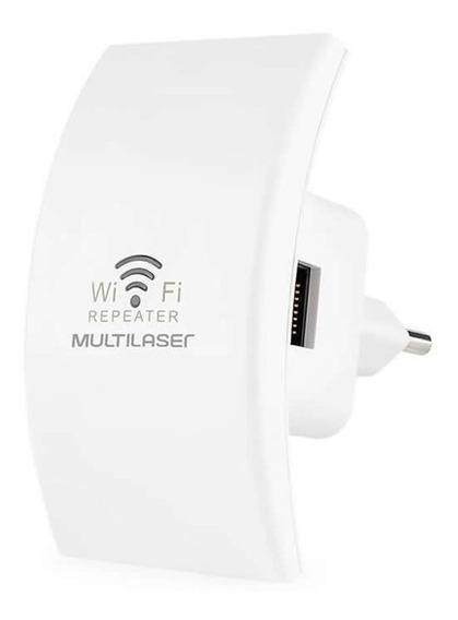 Repetidor De Sinal Multilaser Mini 300mpbs Branco Re055