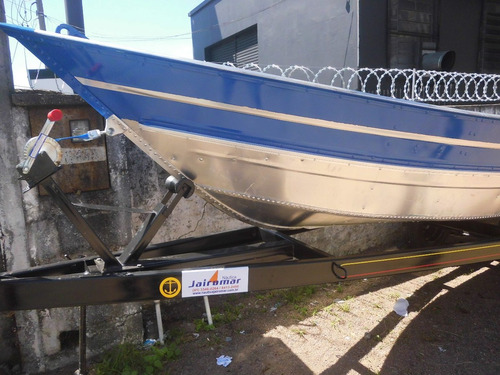 Barco 6m + Carreta Nova Com Motor 30hp Novo Partida
