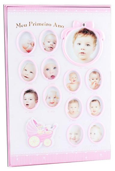 Álbum Bebê Rosa Com 180 Folhas Para Fotos 10x15