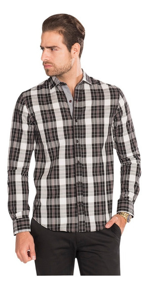 Camisa Hombre Casual Slim Fit Moda Algodón B85324