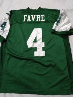 Jersey De Los Jets Ny Brett Favre Talla 2xl (usado) Nfl Ame