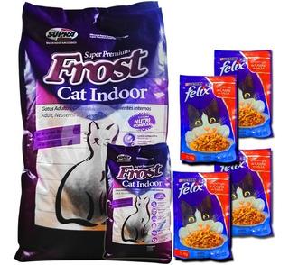 Comida De Gato Frost Cat Indoor 8,5 Kg + Regalo + Envío