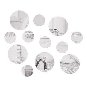 Kit Círculos Decorativos 12 Peças Em Acrílico Espelhado