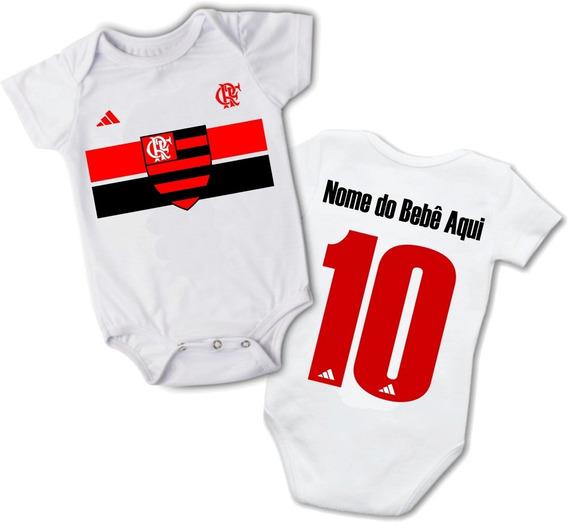 Roupas De Bebe Body Flamengo Personalizado Nome E Número
