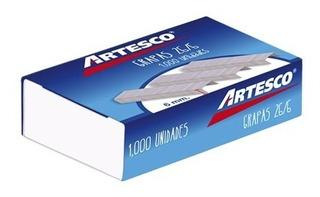 Grapas 26/6 X 1000 Artesco Caja De 1000 Grapas 40 Cajas