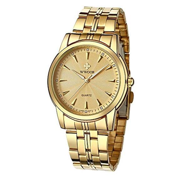 Wwoor Hombres Calidad Reloj De Lujo Analógico
