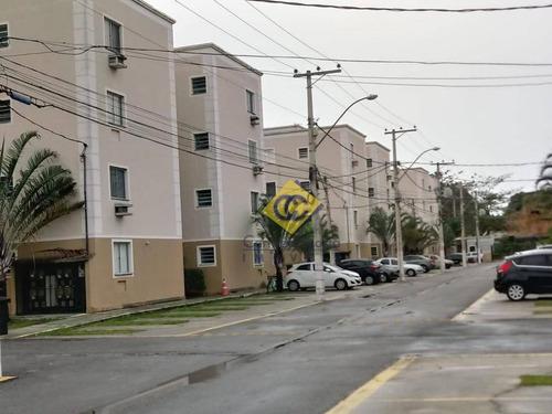 Excelente Apartamento Com 2 Dormitórios À Venda, 50 M² Por R$ 169.000 - Atlântica - Rio Das Ostras/rj - Ap0676