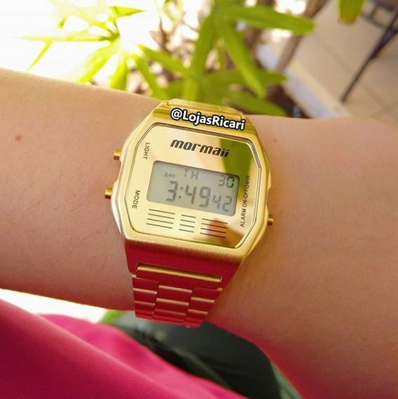 Relógio Mormaii Unissex Mojh02ab/4d, Dourado E Garantia E Nf