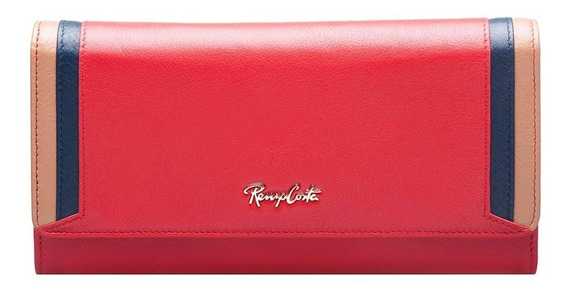Billetera Para Mujer Renzo Costa Wlux-18 5676-2921 Rojo