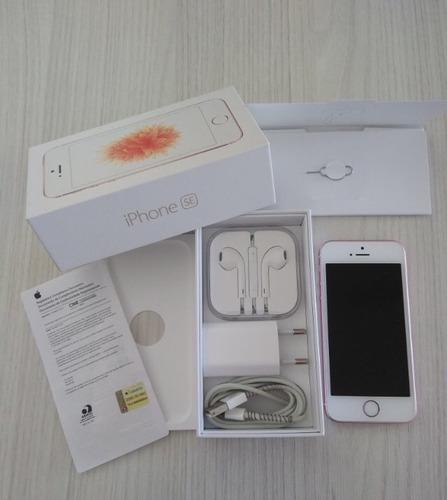 Imagem 1 de 5 de iPhone SE 16gb Ouro Rosa