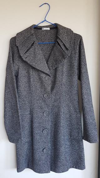 Casaco Feminino Longo De Tweed