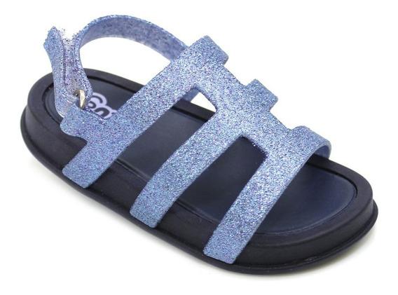 Sandália Plugt Mini Bizz Festa Gliter - Marinho/azul