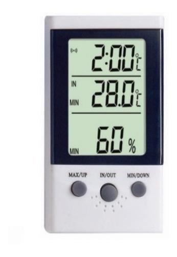 Imagen 1 de 8 de Termohigrometro Digital Humedad Temperatura Sensor Display