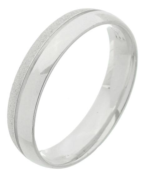 Aliança Prata 950 80% Diamantada 20% Lisa 7mm