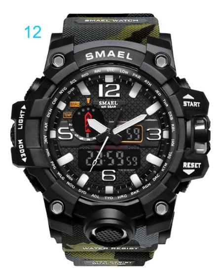 Relógio Masculino Esportivo Smael 1545 Camuflado Sku081