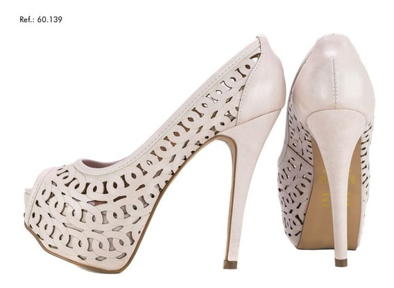Sapato Meia Pata Bege