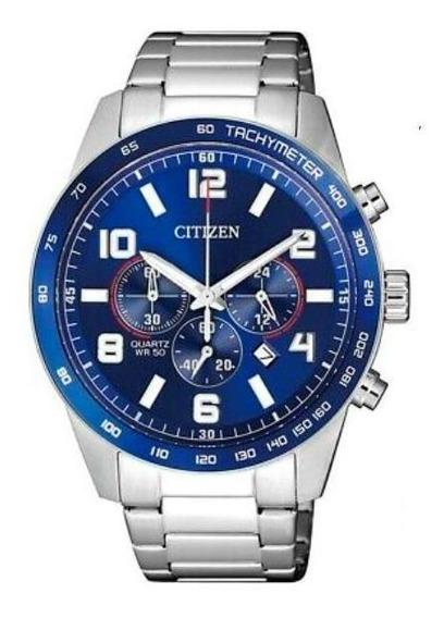 Relógio Citizen Masculino Todo Em Aço Tz31454f