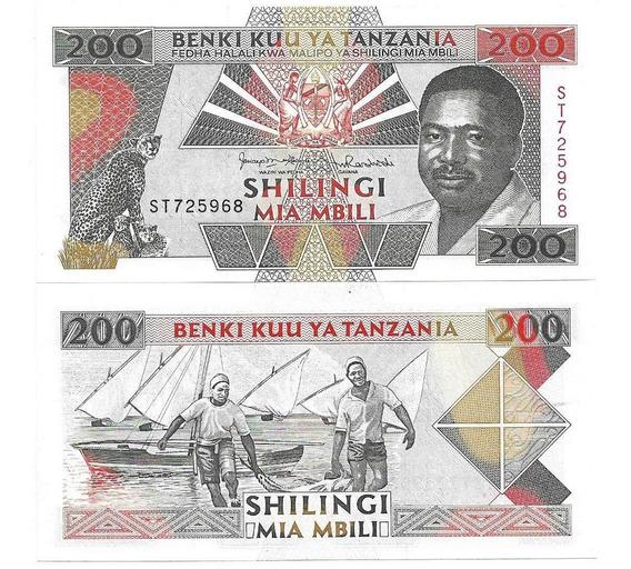 Tanzânia 200 Shilingi Nd1993 Fe P-25b