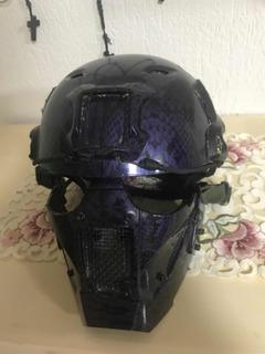 Casco Con Fat Mask Hidrgrafiadas