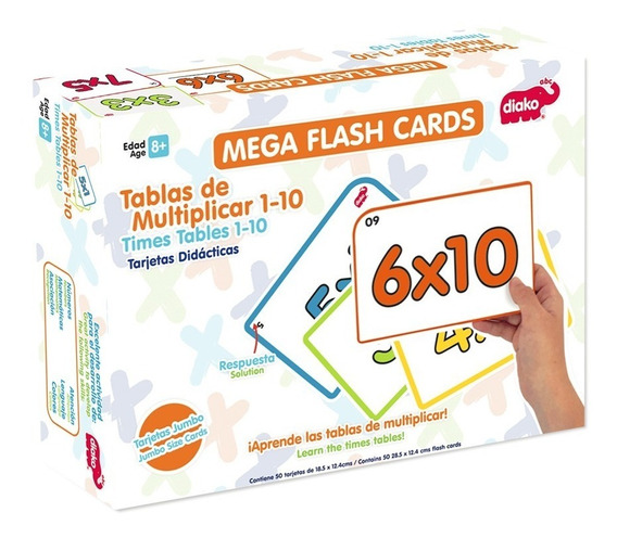 Mega Flash Cards Varios Modelos Maestros Niños $415 C/u