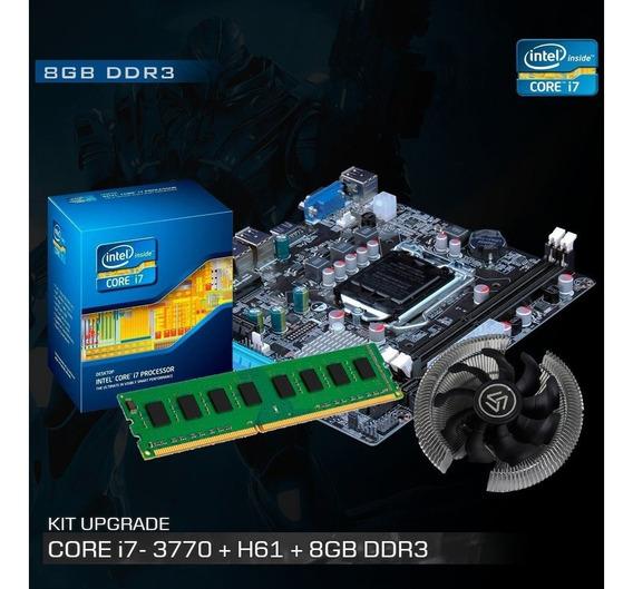 Kit Processador I7 3770 3.9 Ghz + Placa Mãe H61 + 8gb + Nfe
