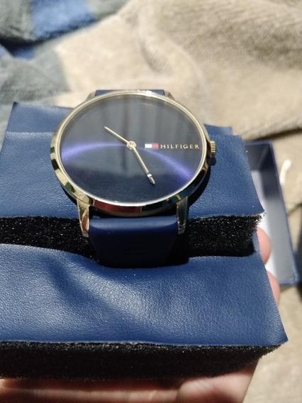 Relógio Tommy Hilfiger Azul Estilo Social Original Semi Novo
