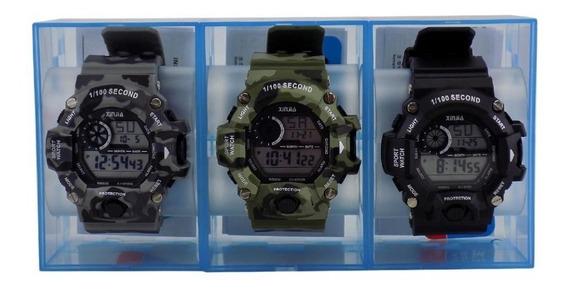 Kit 3 Relógio Masculino Digital À Prova D´água
