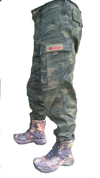 Pantalon Carga De Gabardina Camuflado Milital Talles Xxl