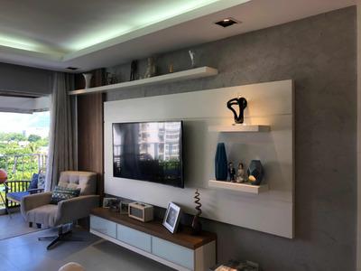 Apartamento 2 Quartos Finamente Decorado Na Barra Da Tijuca
