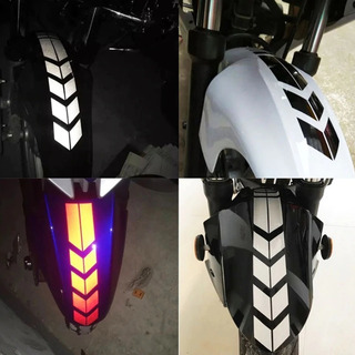 Calcomanía Reflejante Para Moto O Auto En Guardabarro