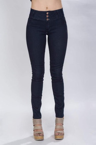 Pantalones De Mezclilla Dama Jeans Pretina Ancha Azul V73110