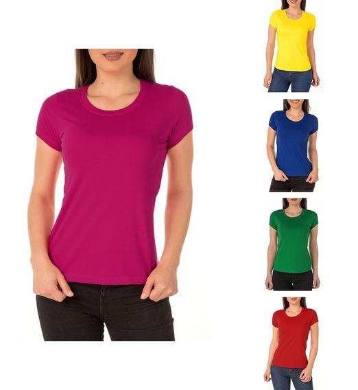 Camiseta Feminina Baby Look Colorida Poliéster P/ Sublimação