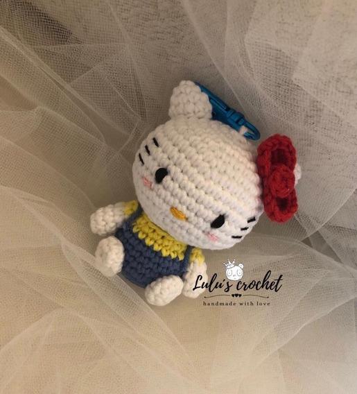 Patrón gratis amigurumi de llavero de Hello Kitty - amigurumis y más | 568x515