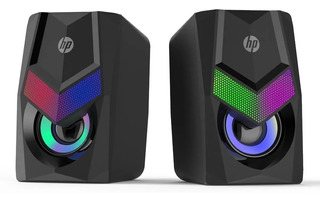 Parlantes Hp Para Pc Gamer Oficina Dhe-6000 Con Luces Led