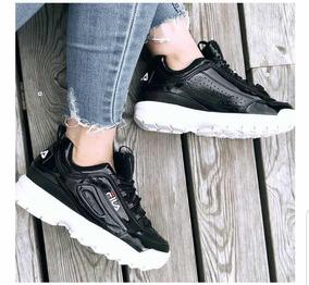 Zapatillas Fila Negras Suela Blanca Nuevas